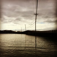Photo taken at Cribstone Bridge by Loren F. on 3/2/2013