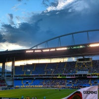 Photo taken at Olympic Stadium (Engenhão) by Helilucio R. on 2/18/2013