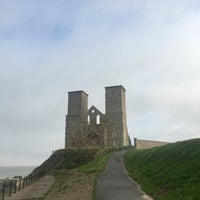 Photo taken at Reculver Towers and Roman Fort by Gokce R. on 12/1/2016