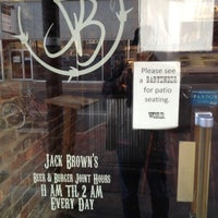 Photo taken at Jack Brown's Beer & Burger Joint by Mark H. on 11/16/2012