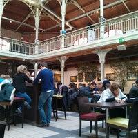 Photo taken at Café des Halles Saint-Géry by Christophe M. on 4/1/2013