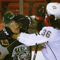 Photo taken at Oklahoma City Barons Hockey by Mandy on 10/8/2012