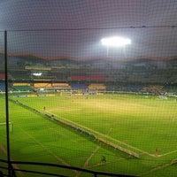 Photo taken at Jawaharlal Nehru Stadium by Remin R. on 2/28/2013