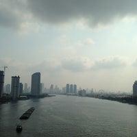 Photo taken at Rama III Bridge by LiBra G. on 3/28/2013