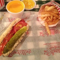 Photo taken at Portillo's Hot Dogs by Sara on 12/28/2012