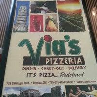 Photo taken at Via's Pizzeria by Valencia R. on 10/29/2012