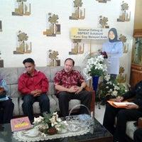 Photo taken at Balai Besar Pengembangan Budidaya Air Tawar (BBPBAT) by Abah Helmi T. on 3/13/2014