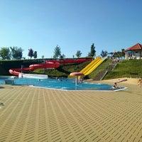 Photo taken at Koupaliště Dačice by Réza K. on 6/23/2016
