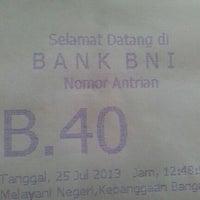 Photo taken at Bank BNI 46 Dobi by dee f. on 7/25/2013