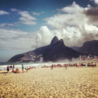 Photo taken at Praia de Ipanema by Francisco B. on 7/27/2013