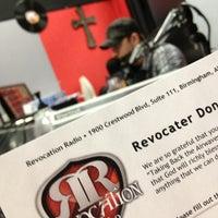 Photo taken at Revocation Radio Studio (http://myrevradio.com) by Keith L. on 2/22/2013