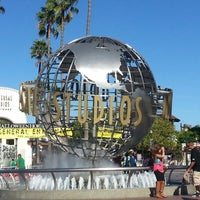 Photo taken at Universal Studios Hollywood Globe and Fountain by Marc B. on 10/28/2012