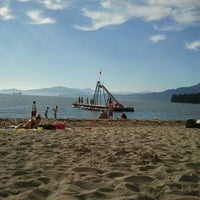 Photo taken at English Bay Beach by Robyn C. on 7/25/2013