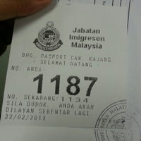 Photo taken at Immigration Dept (Jabatan Imigresen) by faza h. on 2/22/2013