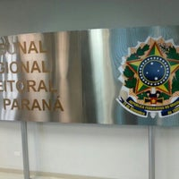 Photo taken at Tribunal Regional Eleitoral do Paraná by Helcio R. on 10/9/2012
