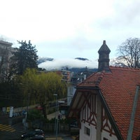 Photo taken at Hostellerie Bon Rivage by Ostap on 3/22/2014