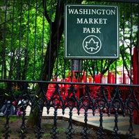 Photo taken at Washington Market Park by Daniel Costa d. on 7/13/2013