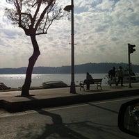Photo taken at Sarıyer Sahili by Suzan on 11/4/2012