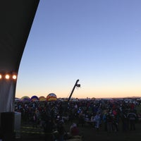 Photo taken at The Stage @ Balloon Fiesta Park by Marlon L. on 10/5/2013
