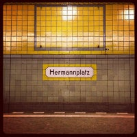 Photo taken at Hermannplatz by Anna I. on 12/15/2012