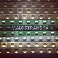 Photo taken at Metro =A= Malostranská by Mikhail B. on 1/7/2013