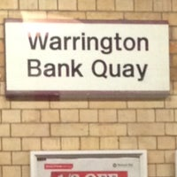 Photo taken at Warrington Bank Quay Railway Station (WBQ) by Ahmed &. on 4/21/2014