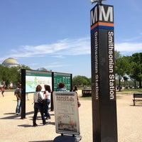 Photo taken at Smithsonian Metro Station by Harjit on 4/24/2013