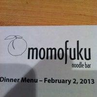 Photo taken at Momofuku Noodle Bar by Alonso H. on 2/3/2013