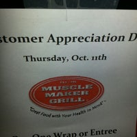 Photo taken at Muscle Maker Grill by Milton M. on 10/10/2012
