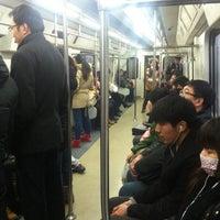Photo taken at 地铁上地站 Subway Shangdi by Pascal L. on 2/25/2014
