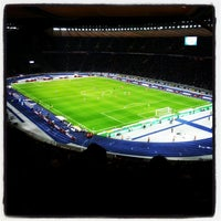 Photo taken at Olympiastadion by Anders H. on 9/13/2013