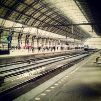 Photo taken at Amsterdam Centraal Railway Station by Barča V. on 4/21/2013