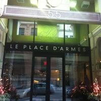 Photo taken at Le Place d'Armes Hôtel & Suites by Djay Solo on 12/15/2012