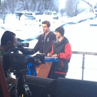 Photo taken at X-Games TV Compound by Susie G. on 1/27/2014