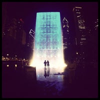 Photo taken at Crown Fountain by Lucinda L. on 6/26/2013