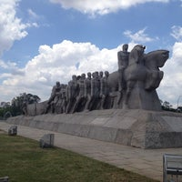 Photo taken at Monumento às Bandeiras by Andy F. on 12/7/2012