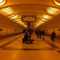 Photo taken at metro Ulitsa Akademika Yangelya by Yana G. on 12/6/2012