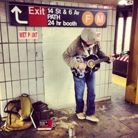Photo taken at MTA Subway - 14th St (F/L/M) by Matt D. on 4/25/2013