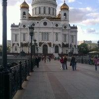 Photo taken at Bolshoy Kamenny Bridge by Yulia K. on 9/29/2012