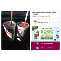 Photo taken at Jamba Juice McCarran Marketplace by Andrea A. on 3/15/2015