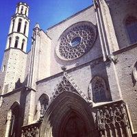 Photo taken at Basílica de Santa Maria del Mar by nrk on 4/24/2013