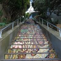 Photo taken at Hidden Garden Mosaic Steps by Pei K. on 4/5/2016