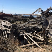 Photo taken at Staten Island Tugboat Graveyard by Ryan S. on 4/12/2014