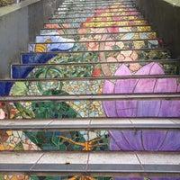 Photo taken at Hidden Garden Mosaic Steps by Julia I. on 7/2/2016