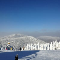 Photo taken at Sommet du Mont-Tremblant Summit by Sam H. on 1/2/2013