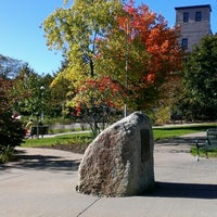 Photo taken at Newman Memorial Gardens by KW on 10/12/2013