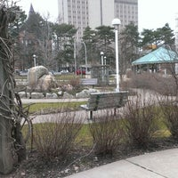 Photo taken at Newman Memorial Gardens by KW on 4/19/2013
