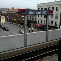 Photo taken at CTA - Belmont (Red/Brown/Purple) by Andrew K. on 11/15/2012