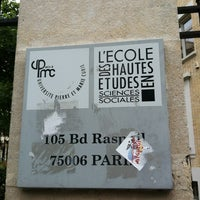 Photo taken at École de Hautes Études en Sciences Humaines et Sociales EHESS by Lionel R. on 5/14/2013