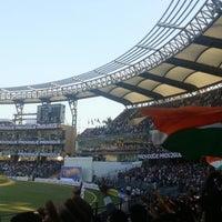 Photo taken at Wankhede Stadium by Surajit P. on 11/23/2012